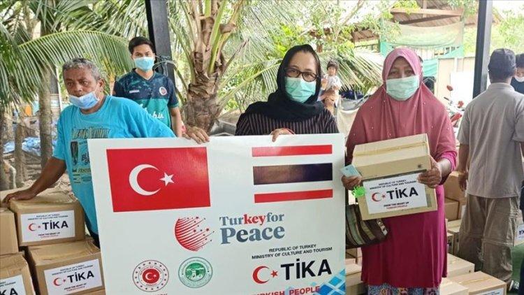 TİKA'dan Tayland'da 1200 aileye gıda yardımında bulundu