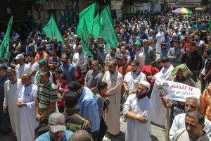 İsrail'in 'ilhak' planı Gazze'de binlerce kişi protesto etti