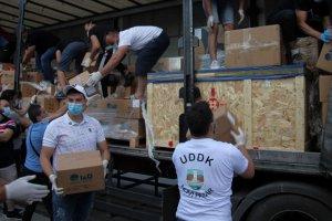 Türkiye'den Sancak bölgesine tıbbi malzeme yardımı ulaştı