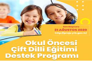 YTB'den Okul Öncesi Çift Dilli Eğitimi Destek Programı