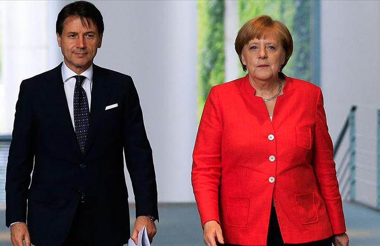 Merkel ve Conte'den AB'ye iç pazar çağrısı