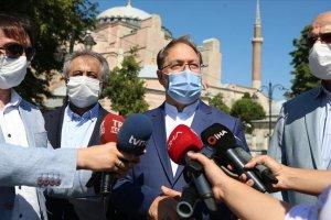 Diyanet İşleri Başkanı Erbaş: Ayasofya Camii'nde sosyal mesafe kuralları uygulanacak