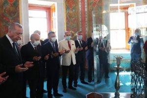 Cumhurbaşkanı Erdoğan: 'Ayasofya camiydi tekrar cami oldu, artık burası aslına döndü'