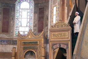 Diyanet İşleri Başkanı Erbaş, Ayasofya-i Kebir Cami-i Şerifi'nde Cuma Hutbesi'ni irad etti
