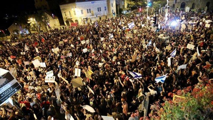Netanyahu karşıtı gösteriler İsrail geneline bütün hızıyla yayılıyor