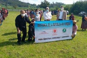 TİKA Guatemala'da ihtiyaç sahibi ailelere gıda ve hijyen paketi dağıttı