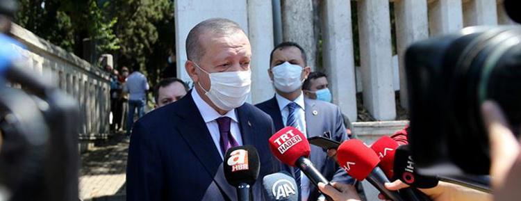 Cumhurbaşkanı Erdoğan, 'Bu bayramda özellikle temizlik, maske, mesafeye dikkat edeceğiz'