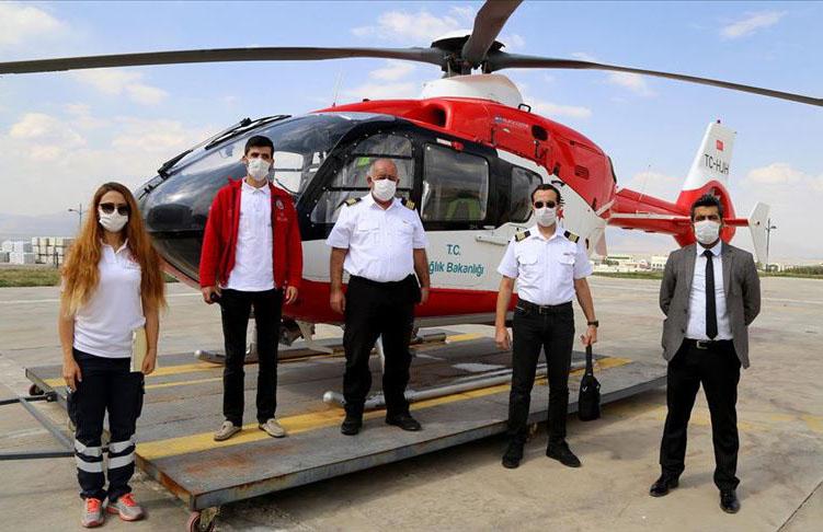 Ambulans helikopter zamanla yarışarak çok sayıda kişiyi hayata bağladı