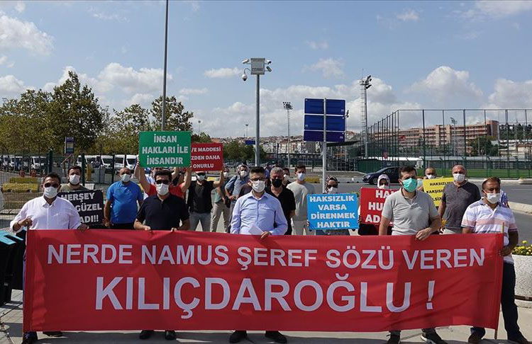 İBB işten çıkarılan işçiler eylem yapmak üzere  CHP Genel Merkezine gidiyor