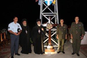 Yunan Türkiye'ye görsün diye Yeni Bosna'ya (Nea Vissa) dev haç diktiler