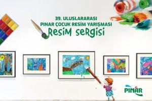 39. Uluslararası Pınar Çocuk Resim Yarışması'nda ödül alan eserler sergileniyor
