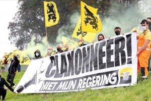 Belçika'da aşırı sağcılardan 'Vivaldi' koalisyonunu protesto etti