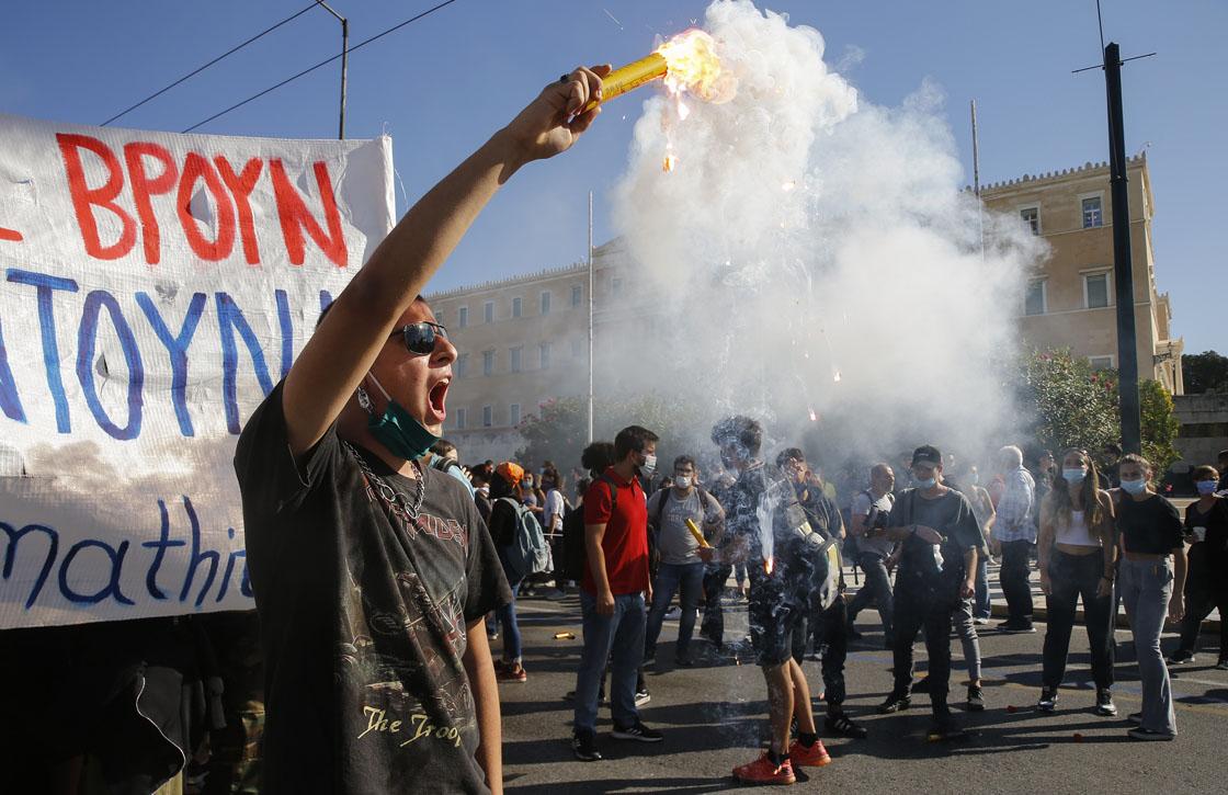 Atina'daki kamu çalışanları grevde