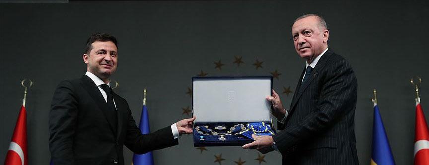 Cumhurbaşkanı Erdoğan'a 'Ukrayna Devlet Nişanı' verildi