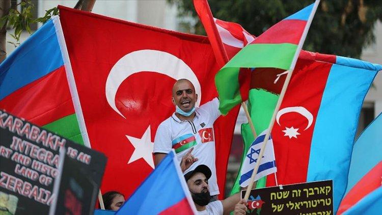 İsrail'deki Azerbaycanlı Yahudiler Ermenistan'ın saldırılarını protesto etti