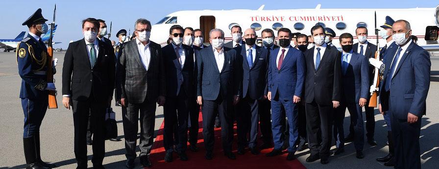 TBMM Başkanı Mustafa Şentop kalabalık ve güçlü bir heyet ile Azerbaycan'da