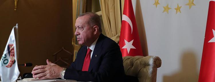 Cumhurbaşkanı Erdoğan, G20 Zirvesi'ne Vahdettin Köşkü'nden canlı bağlantıyla katıldı