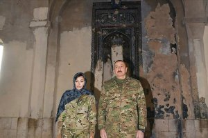 Cumhurbaşkanı Aliyev işgalden kurtarılan Ağdam'ı ziyaret etti