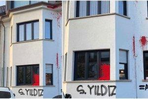 Terör yandaşlarından İsviçre Türk Toplumu Başkanı Şeref Yıldız'ın evine saldırı