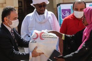 Türk Kızılay'dan Sudan'daki ihtiyaç sahiplerine gıda yardımı