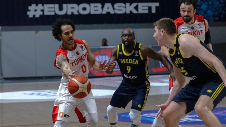 FIBA 2022'de A Milli Erkek Basketbol Takımı İsveç'i yendi