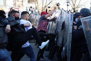Kuzey Makedonya'da 'Monstrum' davasının kararını protesto edildi