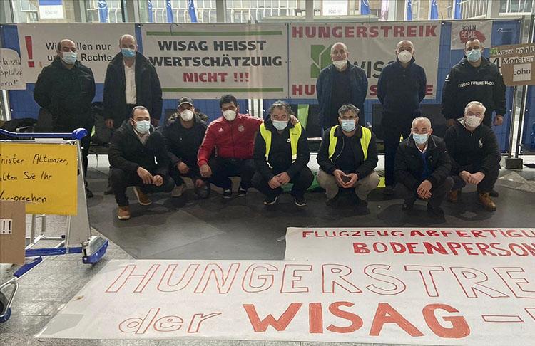 Frankfurt Havalimanı'nda virüs bahanesiyle işten çıkarılan işçiler açlık grevine başladı