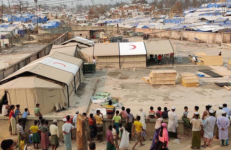 Türkiye, Bangladeş'teki sahra hastanesini yeniden inşa ediyor