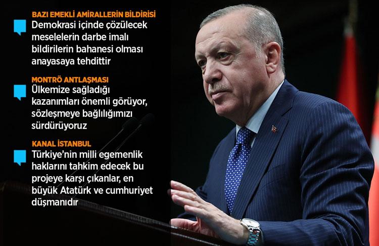 Cumhurbaşkanı Erdoğan gerçekleştirilen bu eylem kesinlikle art niyetli bir girişimdir