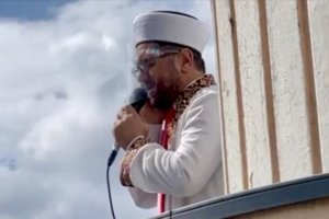 Almanya'nın Wuppertal kentinde ramazan ayında ilk kez cuma ezanı hoparlörle minareden okundu
