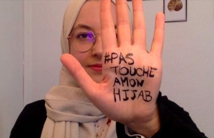 Fransa'da Müslüman kadınlar 'Başörtüme dokunma'