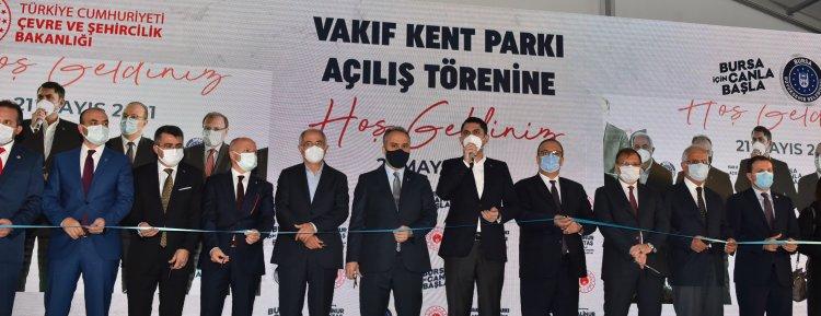 Bursa'da vakıf bera kent parkı hizmete açıldı