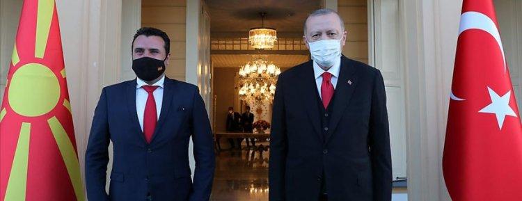 Cumhurbaşkanı Erdoğan, Kuzey Makedonya Başbakanı Zaev'i kabul etti