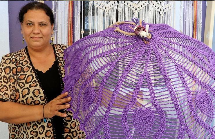 Mor lavantalar üretici kadınlar için ek gelir kapısı oldu