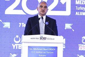 Kültür ve Turizm Bakanı Ersoy, 10. Uluslararası Öğrenciler Mezuniyet Töreni'nde konuştu
