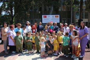 TİKA tarafından inşa edilen Türkiye-Kuzey Makedonya Dostluk Parkı'nın açılışı yapıldı