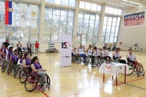 Sırbistan ve Türkiye'nin tekerlekli sandalye basketbol takımları, 15 Temmuz anısına dostluk maçı