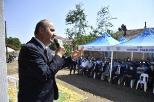 Edirne valiliğinin destekelriyle yaoılan Musulça köyü cemevi açıldı