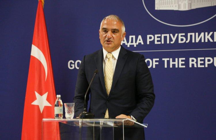Kültür ve Turizm Bakanı Ersoy, Sırp Bakan Matic ile basın toplantısında konuştu
