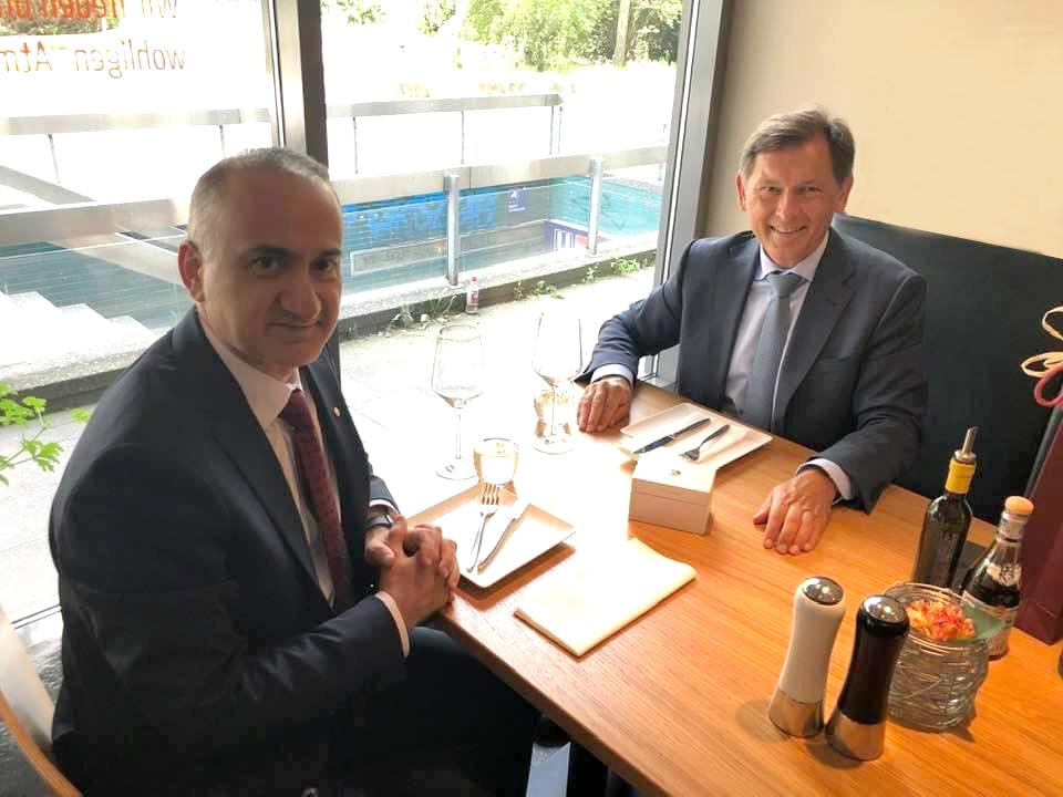 Başkonsolos Cebeci, Herne Büyükşehir Belediye Başkanı Dr. Dudda ile bir araya geldi