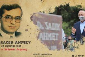 """Mevlüt Çavuşoğlu'ndan """"Dr. Sadık Ahmet"""" paylaşımı"""