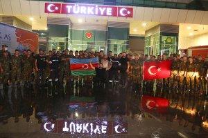 Azerbaycanlı itfaiyecilerden orman yangınlarıyla mücadelede destek