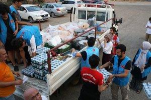 TDV yangın bölgesinde vatandaşlara ayni ve nakdi yardım