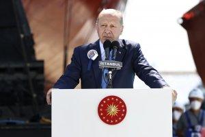 Cumhurbaşkanı Erdoğan, Pakistan MİLGEM Korvet Projesi 1'inci Gemi Sac Kesim Törenine Katıldı