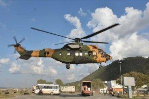 Bozkurt'ta köylere helikopterle erzak yardımı yapılıyor