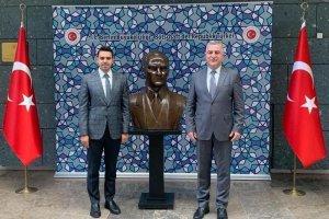 YTB Başkanı Eren'den Büyükelçi Şen'e ziyaret