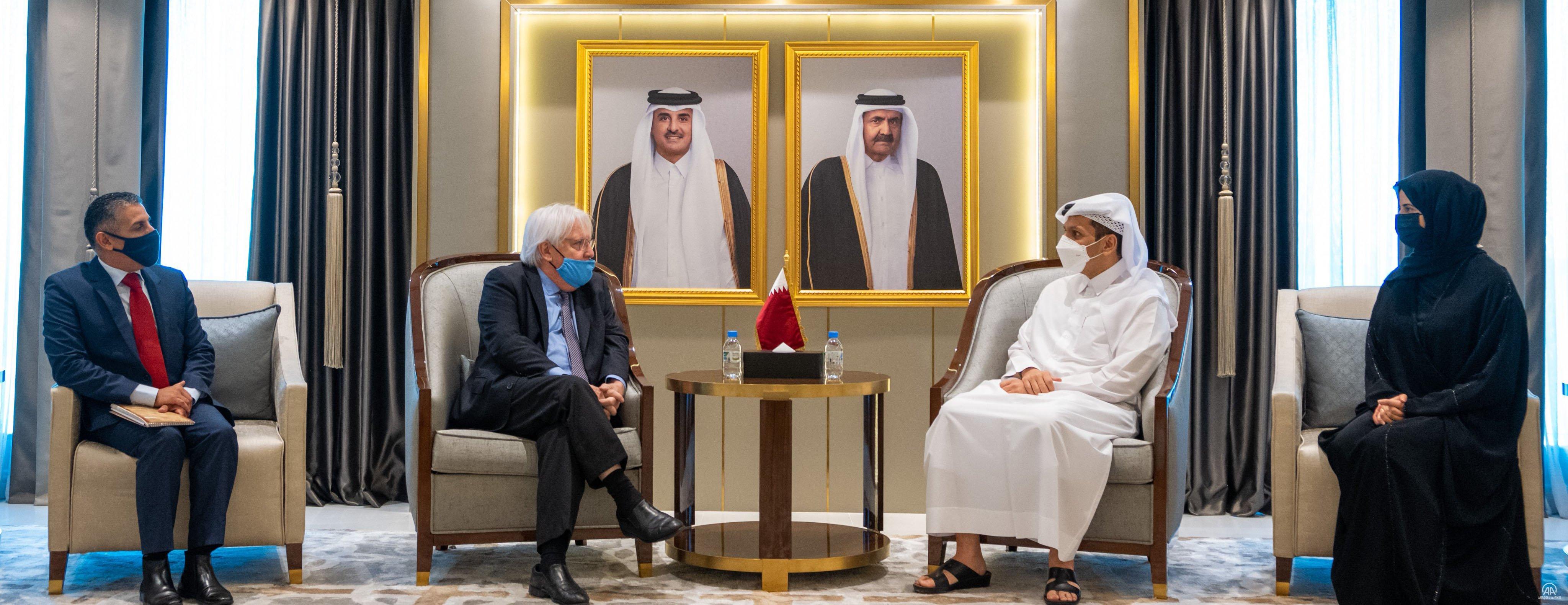 Katar Dışişleri Bakanı Al Sani, BM Acil Yardım Koordinatörü Griffiths ile Afganistan'ı görüştü
