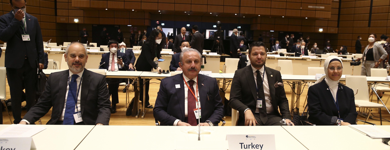 TBMM Başkanı Şentop, 5'inci Dünya Parlamento Başkanları Konferansı'na katıldı