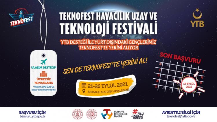 Yurt Dışında Yaşayan Gençler YTB'nin Desteğiyle Teknofest'te Yerini Alıyor