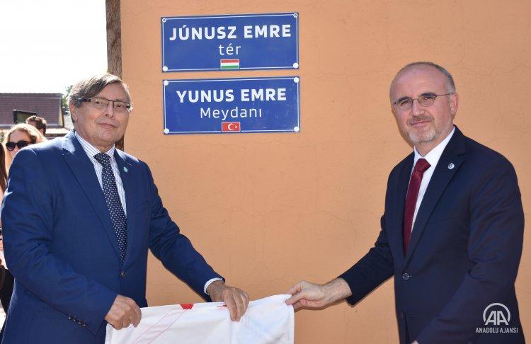 Yunus Emre'nin ismi Macaristan'ın Zigetvar kentinde bir meydana verildi